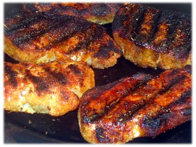 Grilled Peameal Bacon (or Canadian Bacon) is great served on buns!