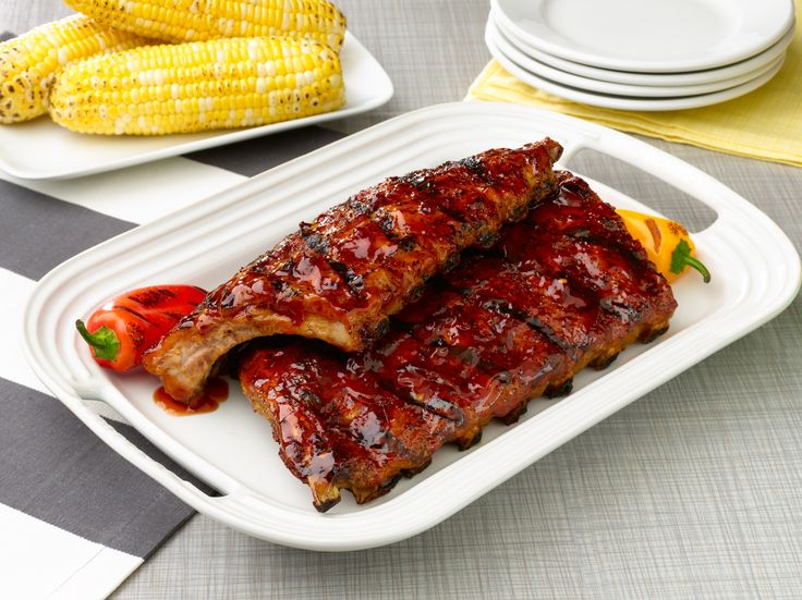Grilled Baby Back Ribs with Honey-Chipotle Barbecue Sauce