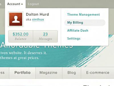 Account Dropdown by Dalton