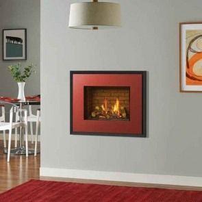 Gazco Riva2 500 Evoke Steel Gas Fire Balanced Flue Brick Effect Lining
