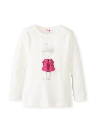 50% OFF Il Gufo Kid's Girl T-Shirt (Milk/Fuchsia)