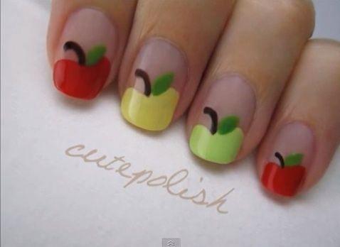 Fun! Back-to-school nail art! http://thestir.cafemom.com/beauty_style/160390/8_fun_backtoschool_nail_art#slideshow