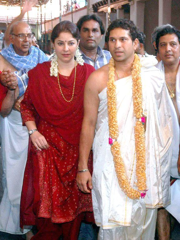 Indian cricket legend Sachin Tendulkar married wife Anjali (L) on May 24, 1995 and the master blaster is still unbeaten here as well.