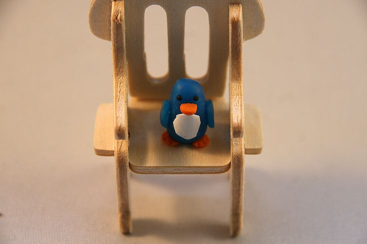 Little penguin - polimer clay