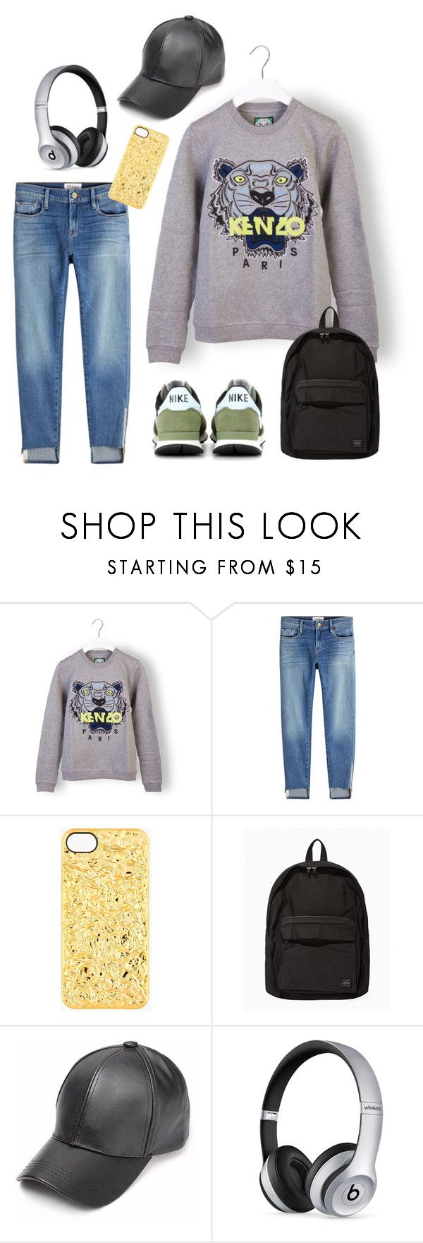"""Kenzo Tiger Sweat"" by missmelaniejane on Polyvore featuring Kenzo, Frame, Marc by Marc Jacobs, Porter, Beats by Dr. Dre and NIKE"