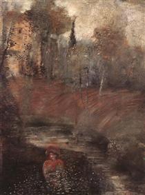 Ancient Garden - Lajos Gulacsy