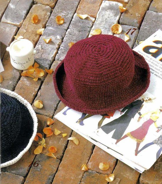 Las mejores 106 imágenes de Crochet: gorros y sombreros en Pinterest ...