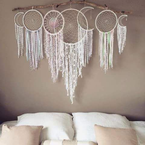 Moon phase dream catchers