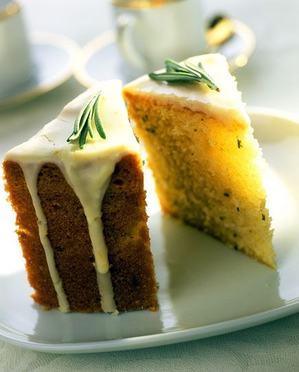 Lemon Rosemary Olive Oil Cake.  Pure Mountain's Rosemary olive oil is killer! And even better in a unique cake recipe!