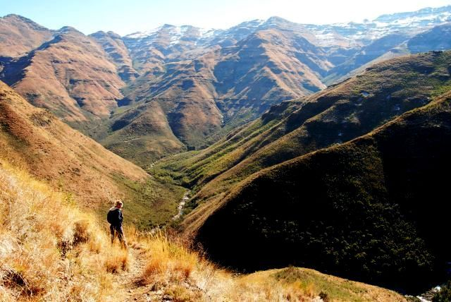Hiking in the Maluti Mountains, Lesotho, Maliba Lodge. (photo by loveafricamarketing.com)