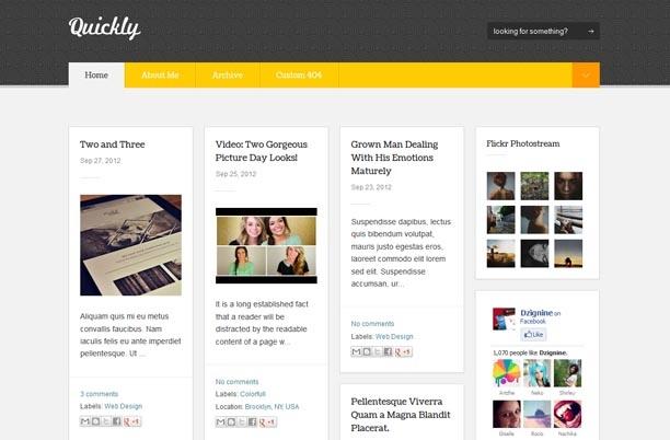 Quality Blogging Themes wordpress