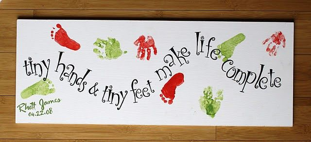 Baby feet and hands print