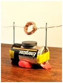 Kids learn how to make a simple electric motor in this great engineering science fair project that teaches them how current generates its own magnetic field.