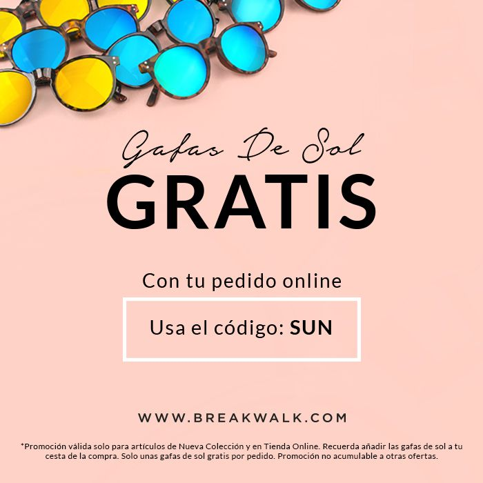 ☀¡Alerta Promo! ☀ #SUMMER ☀ Llévate unas gafas de sol GRATIS con tu pedido online.