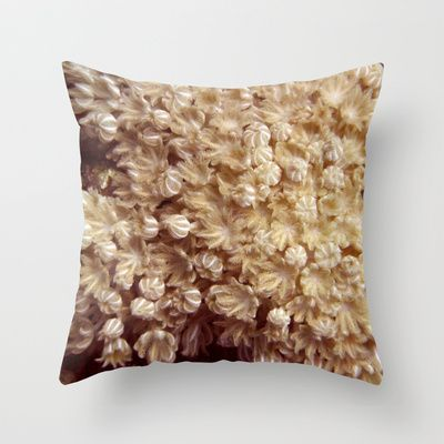 Xenia Coral Pulsing Throw Pillow