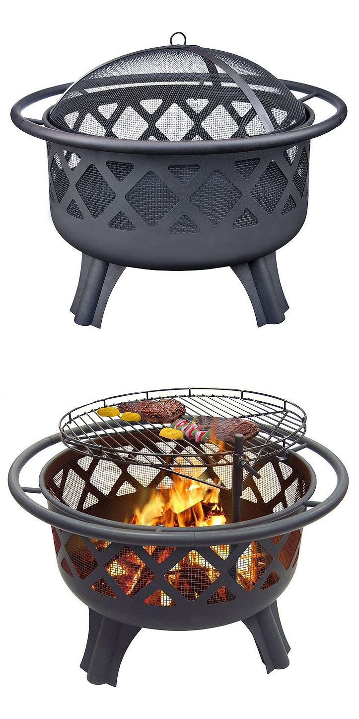 """It's a fire pit and an outdoor grill. """"Perfect for an everyday fire pit during the cool nights. Love the adjustable grill grate. Perfect for raising the grate and grilling some skirt steak and veggies while still having space under to grill dogs and marshmallows."""" --Home Depot customer """"depotlovingmomma"""""""