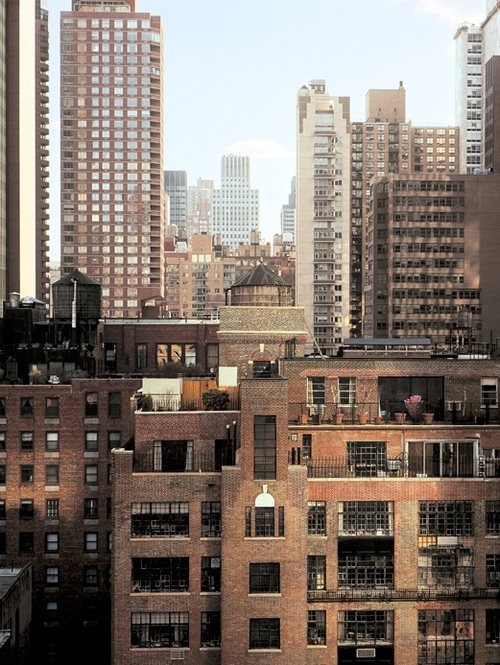 New York skyline. Color