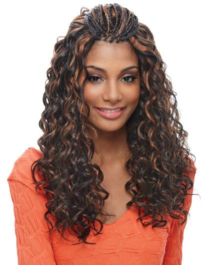 Janet Collection Noir Bulk French Deep Curl Braid