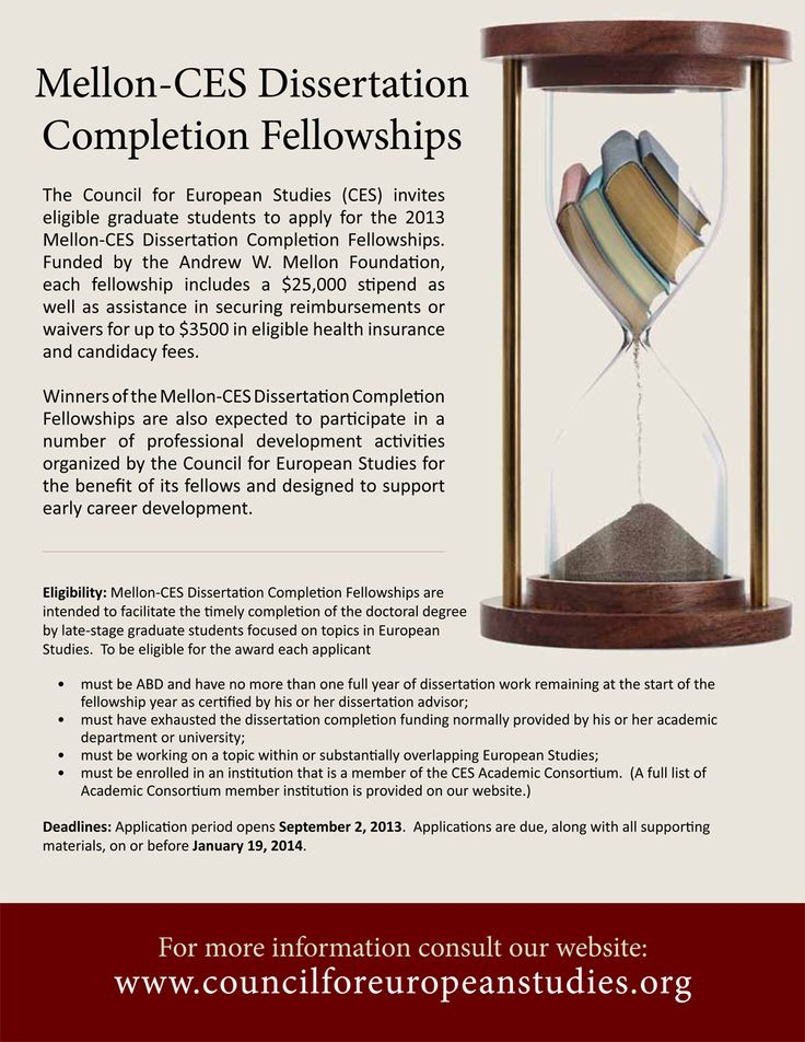 mellon-ces dissertation completion fellowships in european studies Mellon fellowships for dissertation research in original sources council of european studies dissertation completion fellowships  events at the mellon foundation.