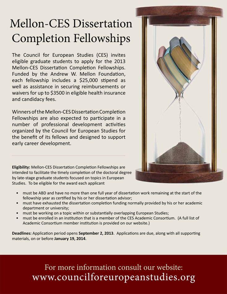Mellon-CES Dissertation Completion Fellowship in European Studies