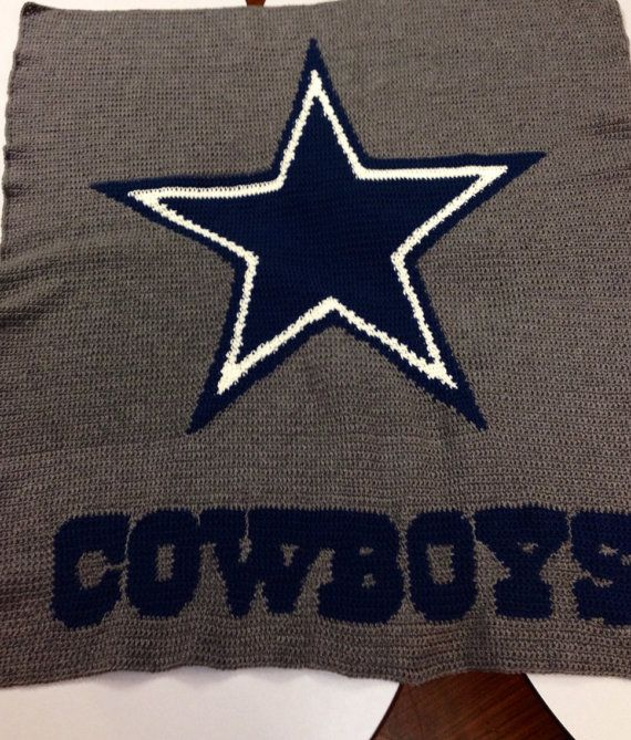Dallas Cowboys Crochet Graphgan Blanket On Etsy 90 00