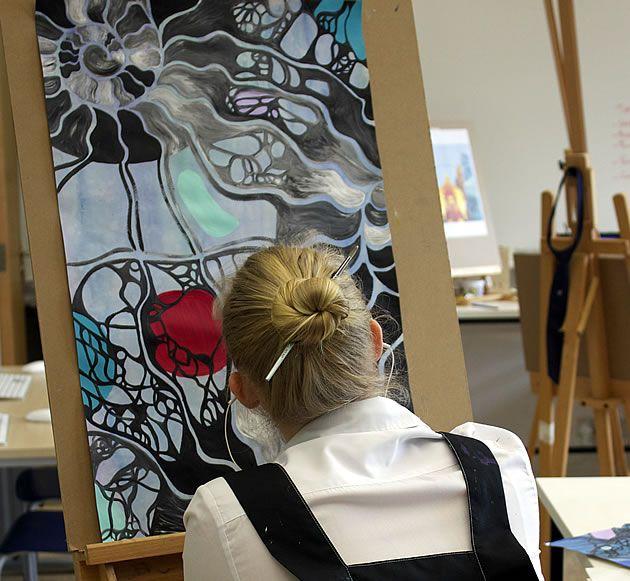 Beautiful photos of students working on their final AS Art exam pieces from Harrow International School, Hong Kong