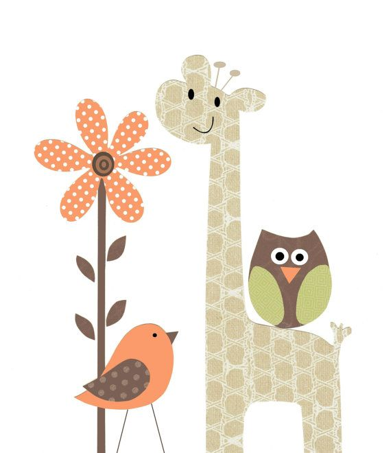 Hello There Little Owl - Baby Boy Nursery Kids Wall Art Neutral Baby Room by vtdesigns, $14.00