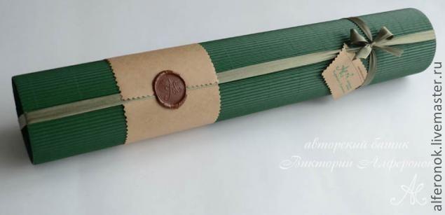Стильная упаковка-тубус без утомительных расчетов - Ярмарка Мастеров - ручная работа, handmade
