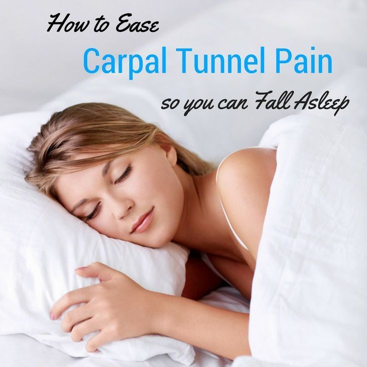 sleep better with carpal tunnel pain