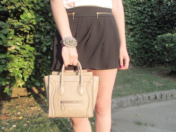 Style & Paper: Black & White Outfit ft Celine nano bag