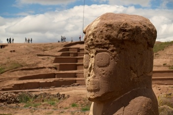 Located near the southern shore of Lake Titicaca in Bolivia, the city of Tiwanaku (also spelled Tiahuanaco) was the capital of a powerful pre-Inca civilization that dominated the Andean region between 500 & 900 AD. The monumental remains of this great culture include several temples, a pyramid, symbolic gates, monoliths & mysterious carvings of alien-like faces. Arriving later, the Incas regarded Tiahuanaco as the site of creation by their god Viracoca, who rose from the depths of Lake…
