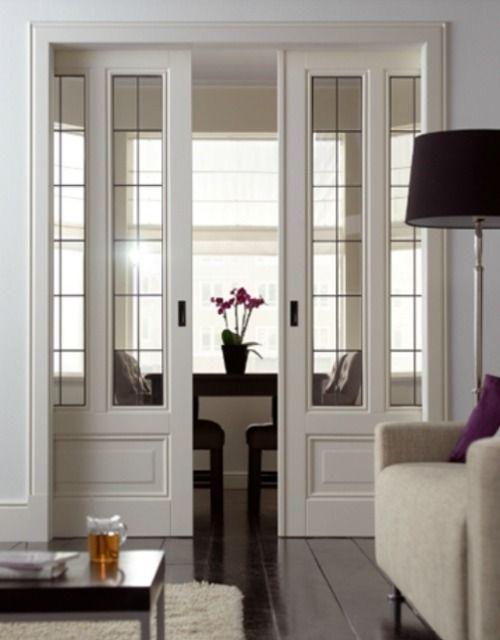 Stain glass sliding doors