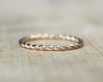Dainty Twist Ring Sterling Silver Gold Fill 14k by Vanessa808