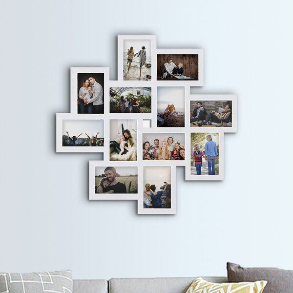 Haymond Gallery Style Wall Hanging 12 Opening Photo Sockets Picture Frame In 2020 Collage Picture Frames Picture Frames Hanging Picture Frames