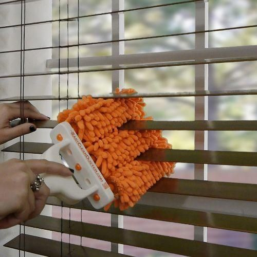 Dust blinds in a snap with the easy clean duster. Find it at Blinds.com