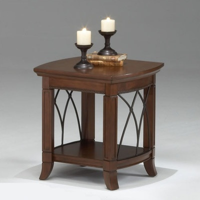 Off Warm Cherry Cathedral Style End Table by Bernards. Warm cherry  cathedral style end table with metal accents and shelf. - 45 Best End Tables Images On Pinterest End Tables, Coffee Tables