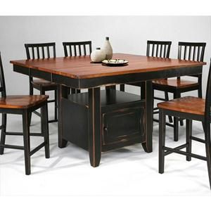 Counter height table Nebraska furniture mart and