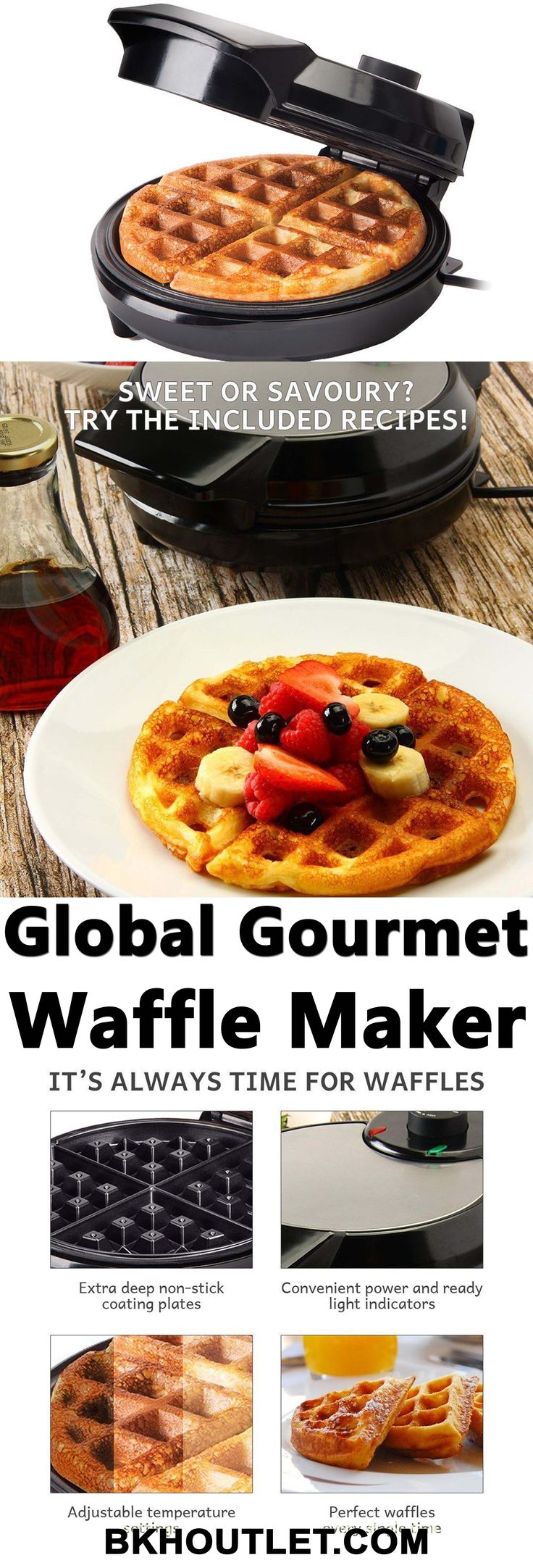 TRADITIONAL AMERICAN WAFFLES BY GLOBAL GOURMET Everyone likes waffles. Especially, when it comes to American waffles. │kitchen appliances │blender │coffee maker │hot plates │kettles │mixers │slow cookers │steamers │toasters │kitchen tools │pressure cooker │kitchen appliances │kitchen tools #kitchenappliances #blender #coffeemaker #hotplates #kettles #mixers #slowcookers #steamers #toasters #kitchentools #pressurecooker #kitchenappliances #kitchentools
