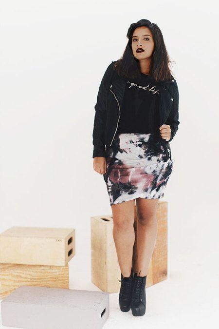Tiedye Skirt Up To 3xl Pastel Goth Nu Grunge Punk Plus Rock Outfitscurvy