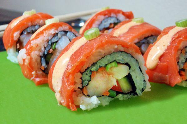 Salmon Roll Sushi...