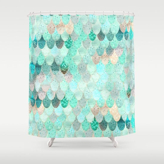 Beautiful SUMMER MERMAID Shower Curtain