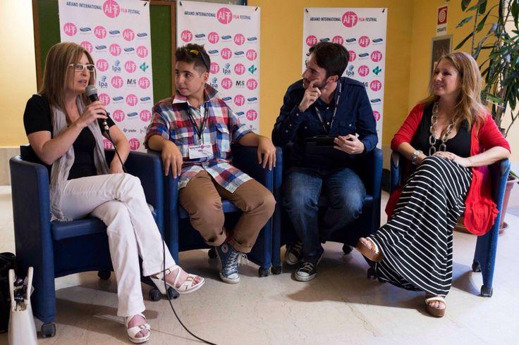 Un momento speciale intervista del #AIFF2015 a #FedericoAngi #SCAdirector #AlessandraBiancuzzi #Marialuisarudoni per il cortometraggio #Skepsi