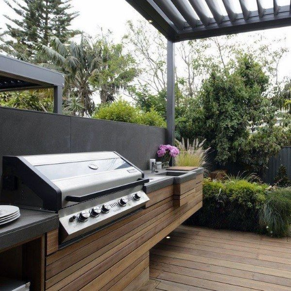 Top 50 Best Built In Grill Ideas Outdoor Cooking Space Designs In 2020 Outdoor Bbq Kitchen Outdoor Kitchen Design Outdoor Bbq Area