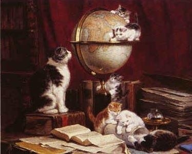 cats in fine art and poetry - Marsas Perserkatzen