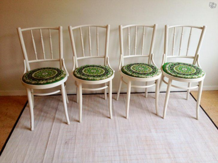 vintage fabric on chairs