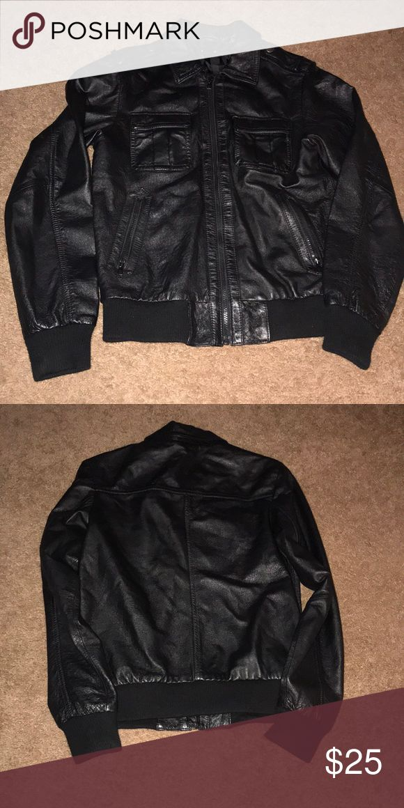 H&M faux leather biker style jacket size Youth 14 Worn but