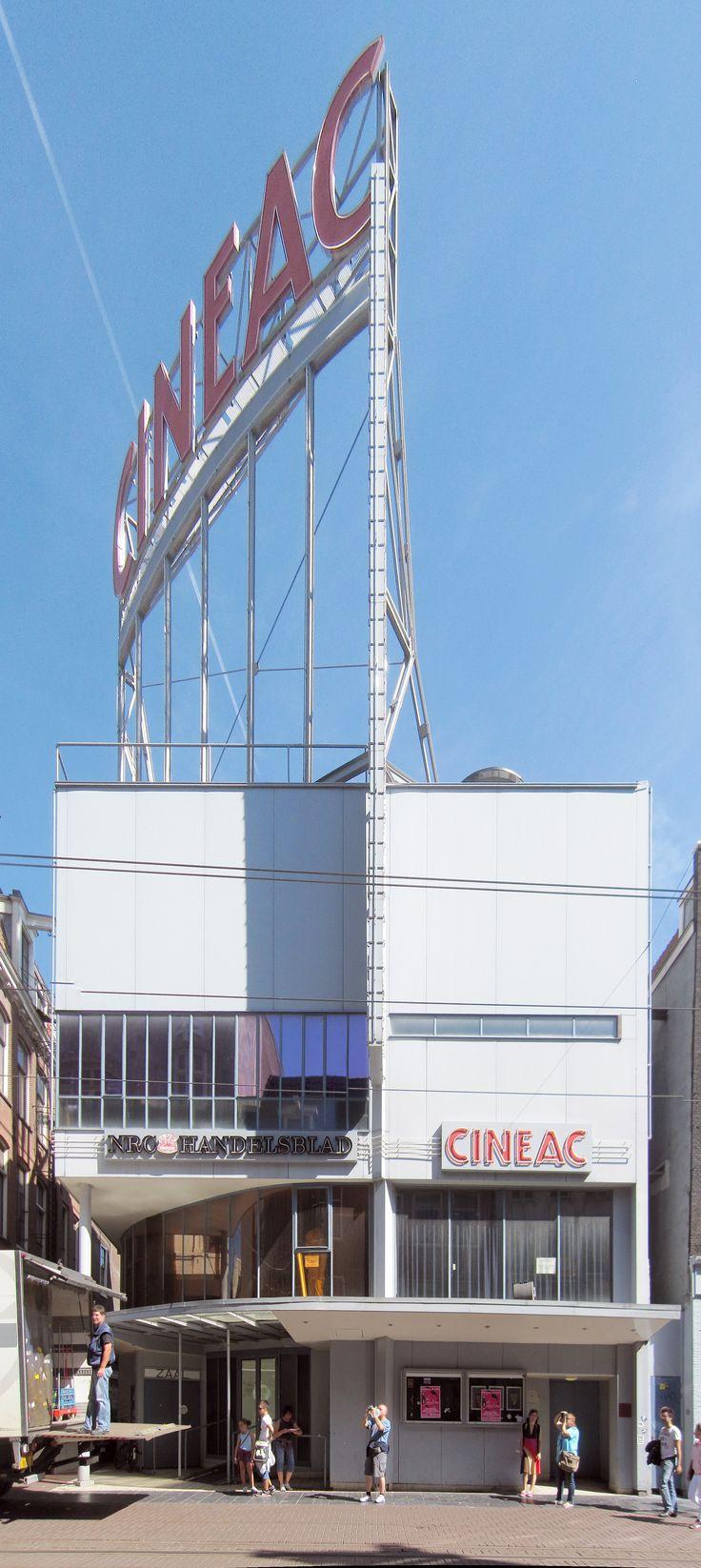 Movietheatre Cineac, Amsterdam, the Netherlands. 1934. Architect J. Duiker