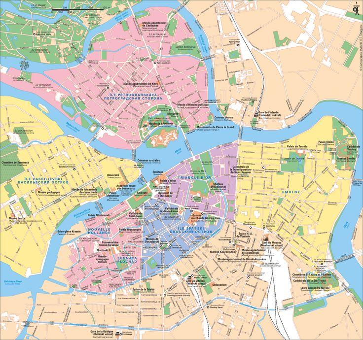 Carte Saint-Pétersbourg - Plan Saint-Pétersbourg