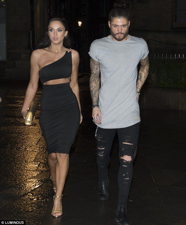 Out on the town: Vicky Pattison and her boyfriend Sam Reece were spotted partying at Newcastle upon Tyne's Tup Tup Palace on Fright night