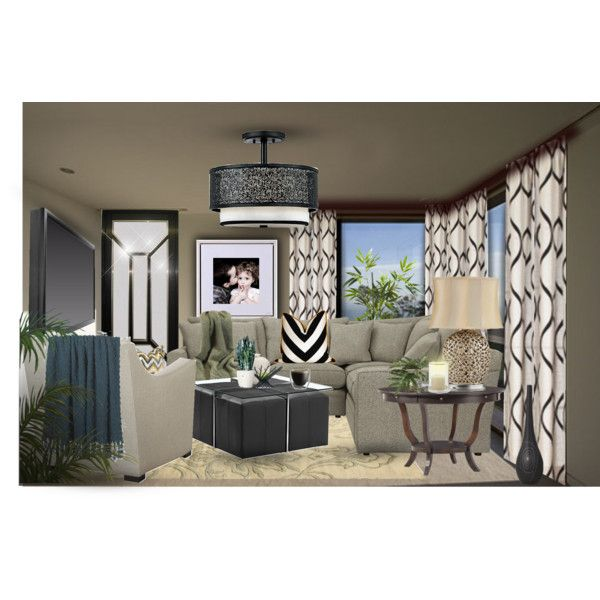 Modern family room by tanyaf1 on polyvore